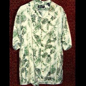 BRANDINI silk Hawaiian short sleeve button Shirt L